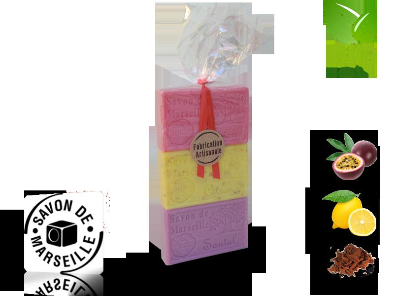 Sada 3 mydiel s vôňou 100g (PAK3000001)