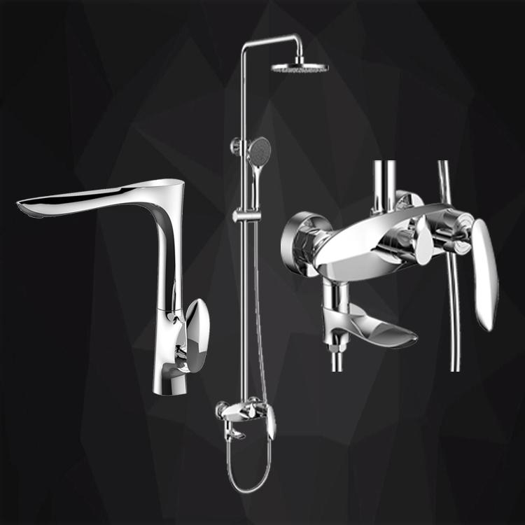 Sprchový set+vysoká batéria LUANSEN (563)