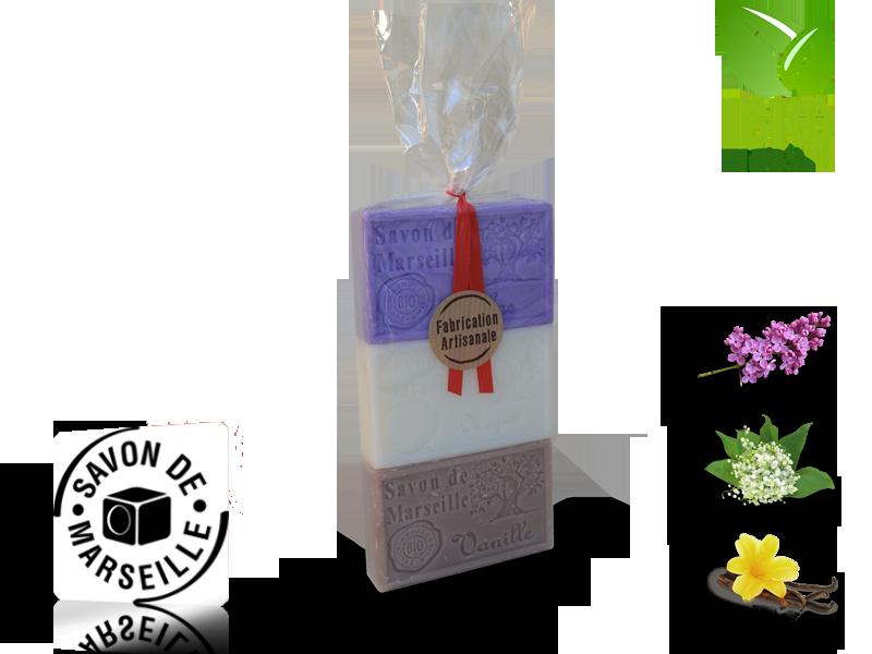 Sada 3 mydiel s vôňou 100g (PAK3000002)