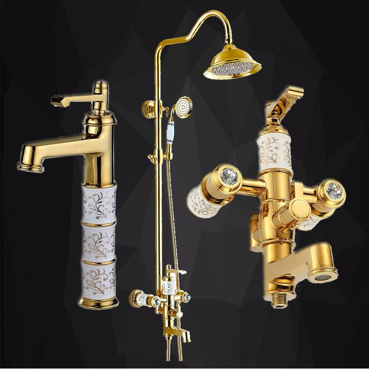 Sprchový set+ vysoká umývadlová batéria KADYOS22 (IM-564)